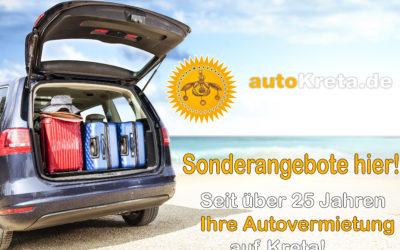 AutoKreta-Oktober Angebote ab 19 euro pro Tag!!
