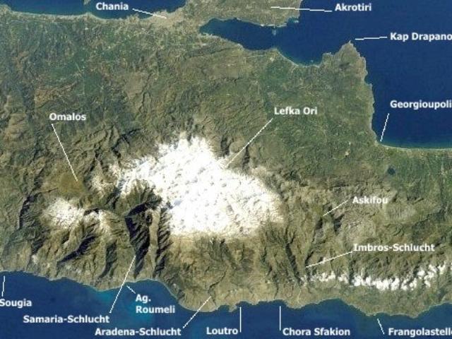 Lefka Ori (Weiße Berge) mit Samaria-Schlucht