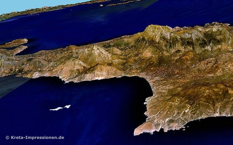 Messara-Bucht an der Südküste bei Ag. Galini und Matala