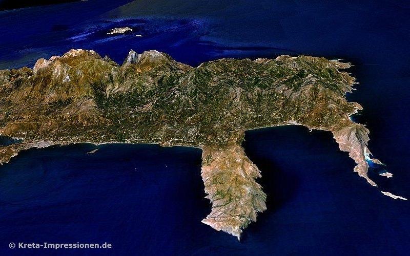 Rodopou- und Gramvousa-Halbinseln im Nordwesten