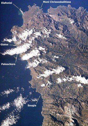 Elafonisi und Paleochora (Blick nach Westen)