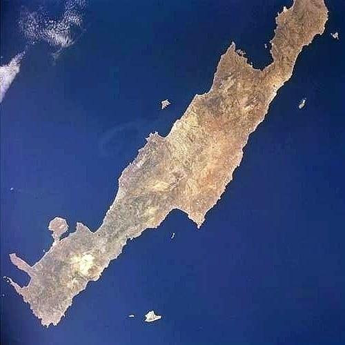 Kreta mit Gavdos (unten Mitte)