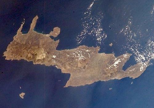 Kreta mit Gavdos (links unten)